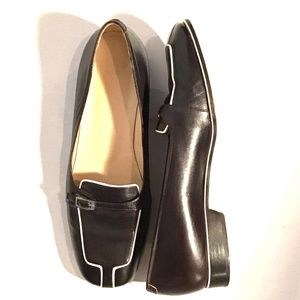 Bally's Classic Black and White Furelle Loafer
